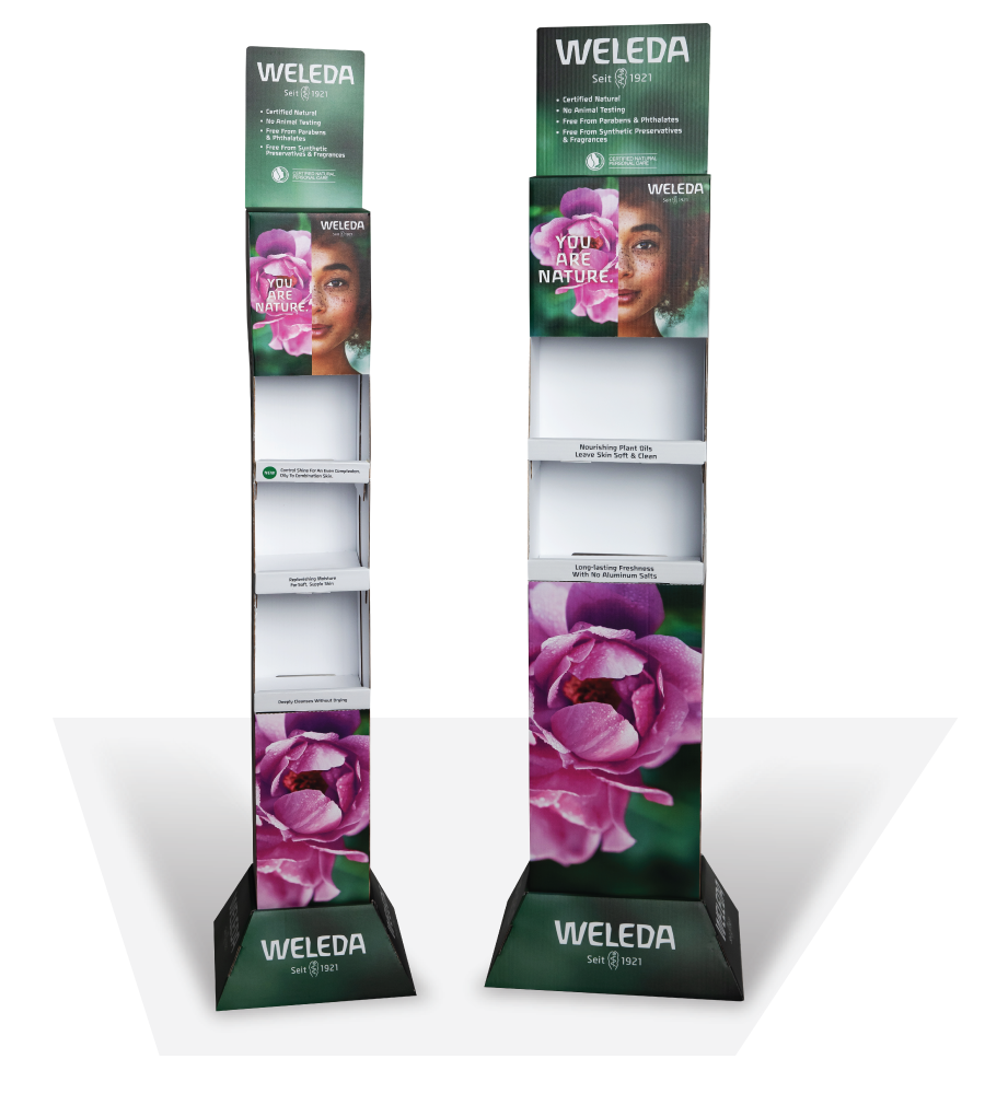 Weleda In Store Product Display Printing