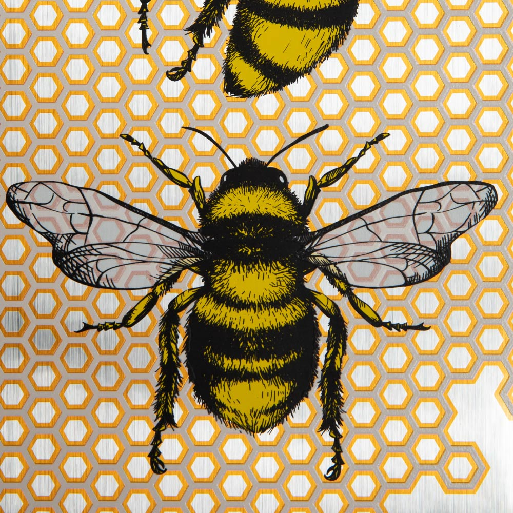 Gold Foil Printed Bee Design