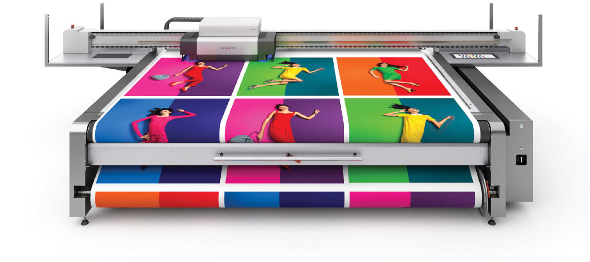 Printing Press Printing Vibrant Images